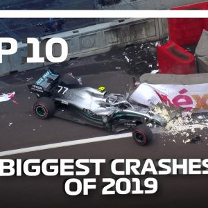 Top 10 Biggest F1 Crashes of 2019